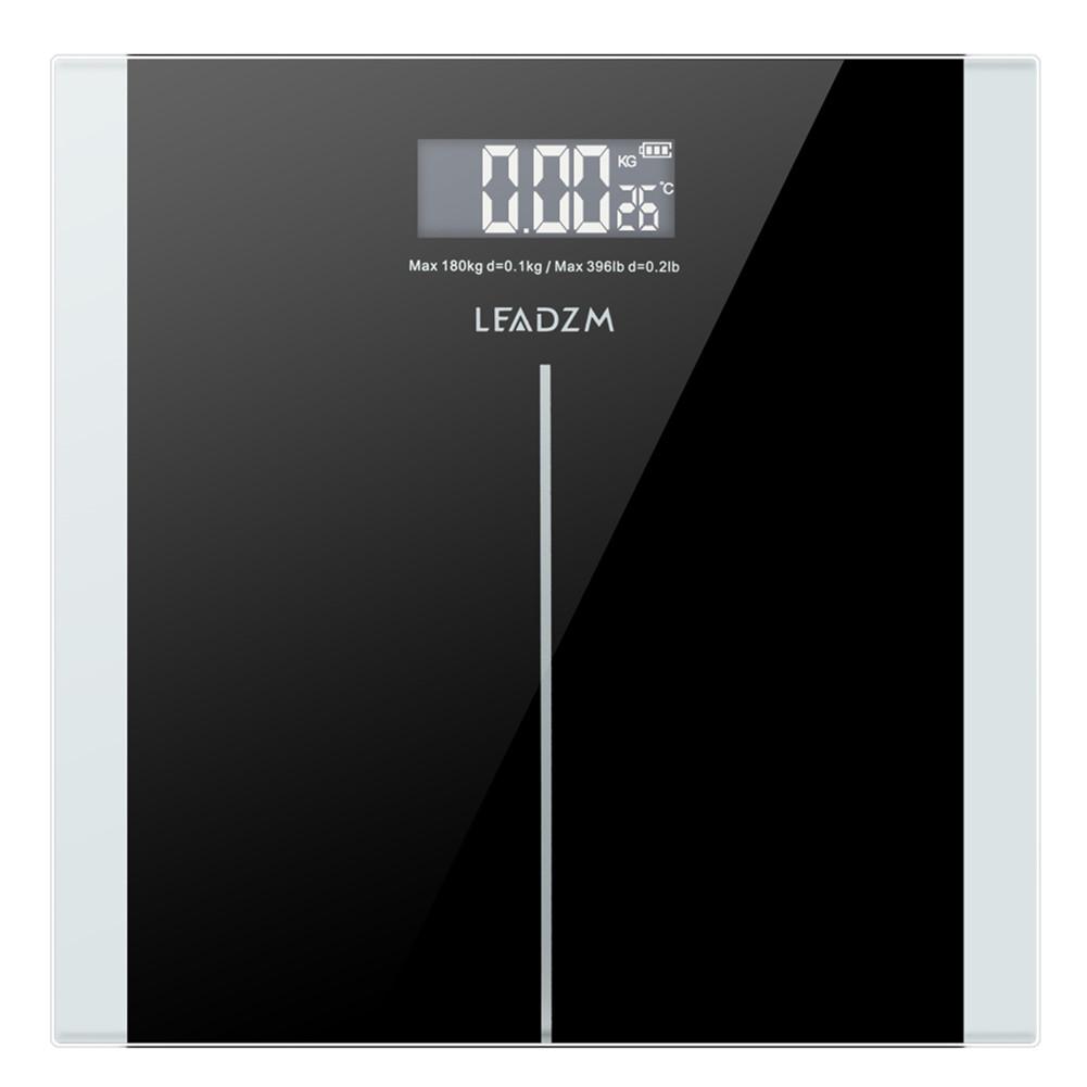 [US Direct] Square 180kg/0.1kg 6mm Thickness 28*28cm Lb/kg Unit Switch Weight  Scale Black