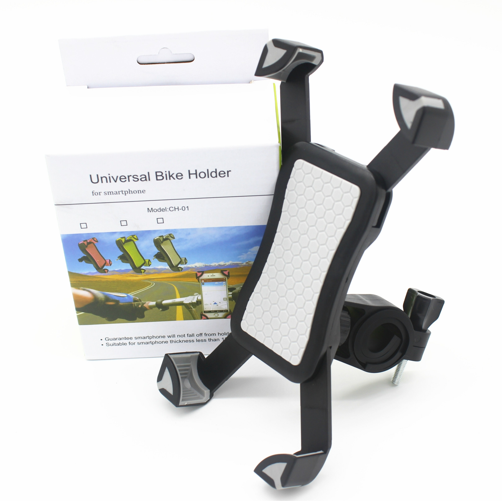 Motorcycle Bike  Cell Phone Holder Grey