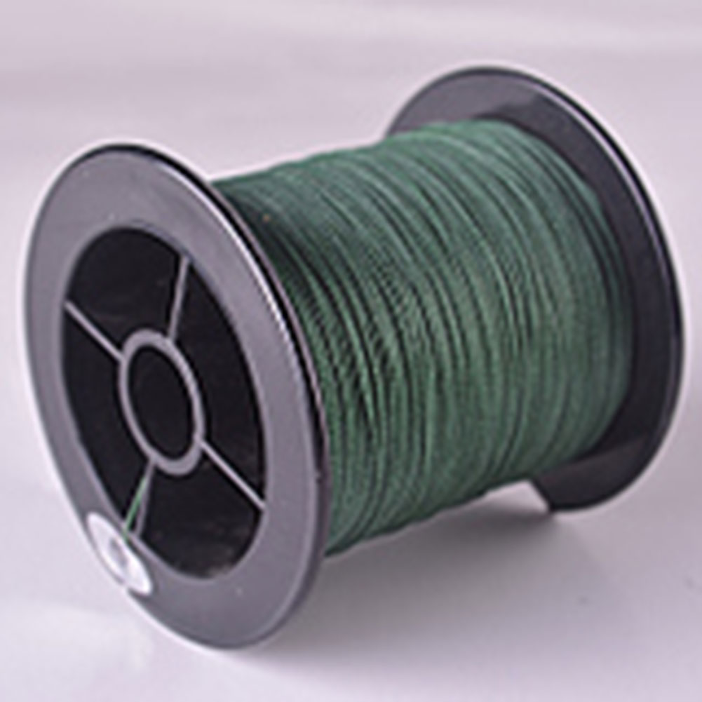 Fishing Line Powerful Braided Wire Strong 20lb 30lb 40lb Multifilament Fiber Line Moss green
