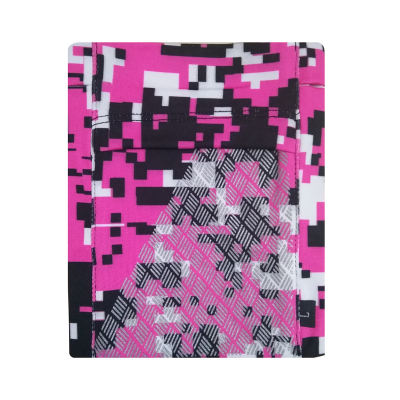 Running Mobile Phone Arm Bag Sports Arm Pocket Fitness Elastic Running Close-fitting Wrist Bag Blocky camouflage