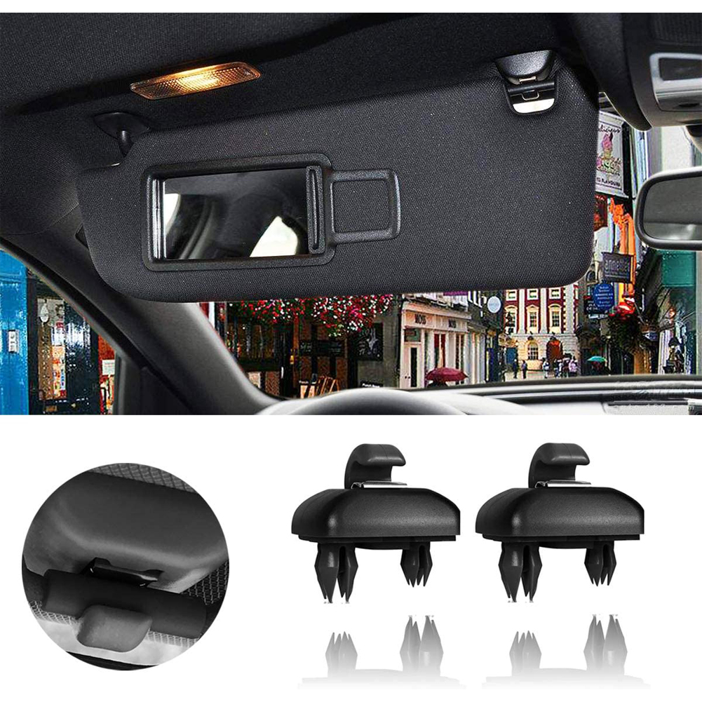 Car Interior Sun Visor Hook Clip Bracket for Audi A1A3A4LA5A6A7 Q5 Oe: 8U0857562A black
