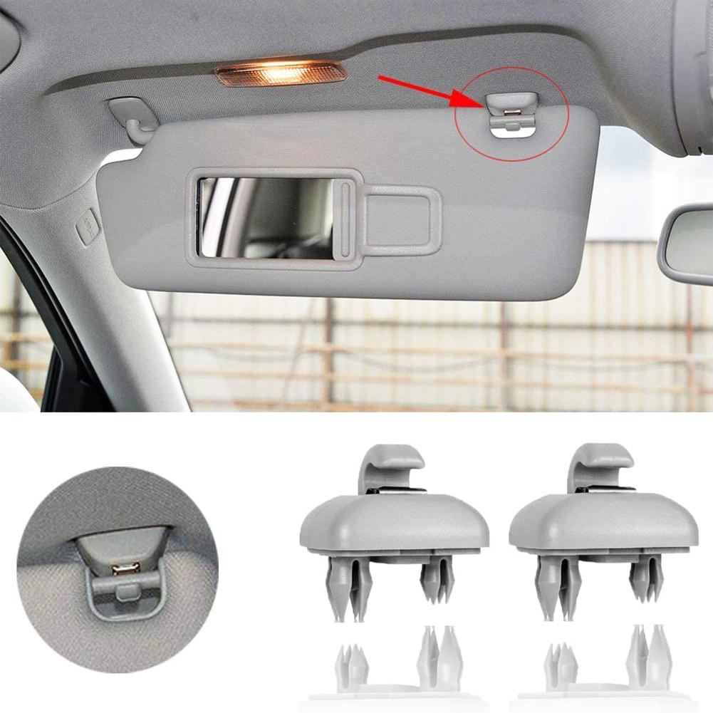 Car Interior Sun Visor Hook Clip Bracket for Audi A1A3A4LA5A6A7 Q5 Oe: 8U0857562A gray