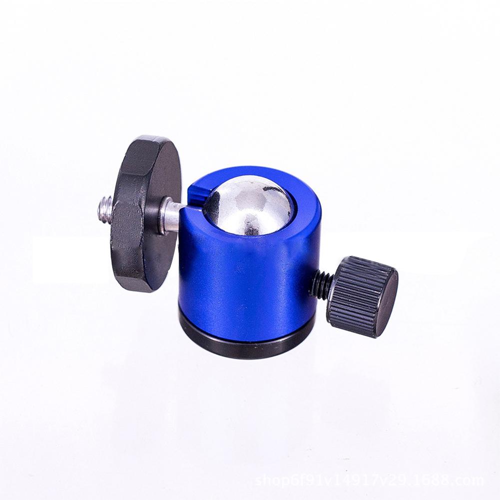 Tripod Gimbal 1/4 Screw Mini Ball Head Small PTZ Micro Single Camera Mount Bracket blue