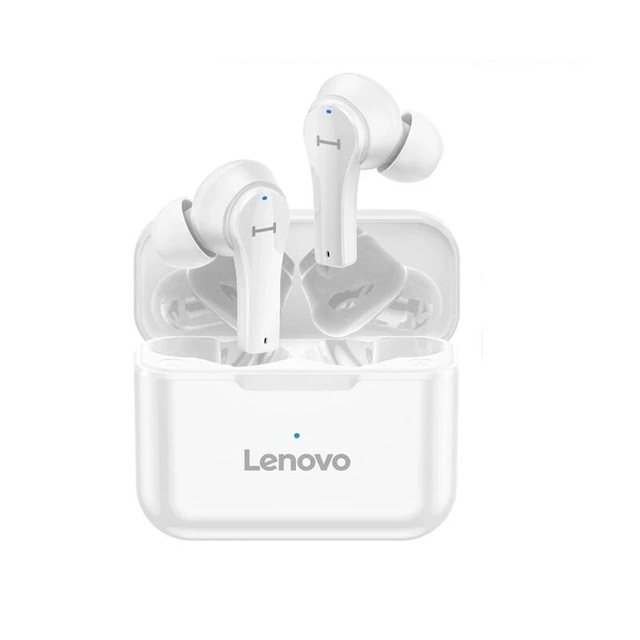 Original LENOVO Qt82 Tws Wireless Bluetooth Earphones V5.0 Touch Control Earbuds Stereo Waterproof Sport Headset white