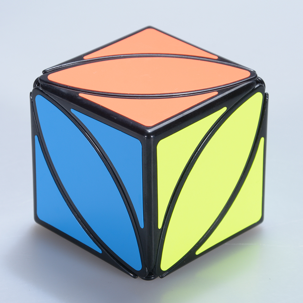 [US Direct] Magic Cube Brain Teaser Adult Releasing Pressure Speed Cube Puzzle Toy black