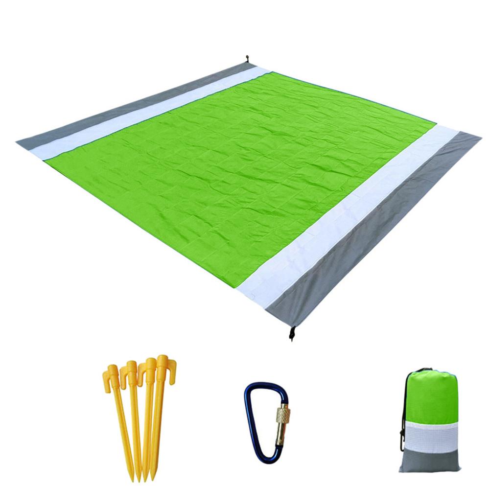 Portable Picnic  Mat Pocket Blanket Waterproof Beach Mat Blanket Ground Mat Mattress Outdoor Picnic Camping Tent Mat Grey Fruit Green