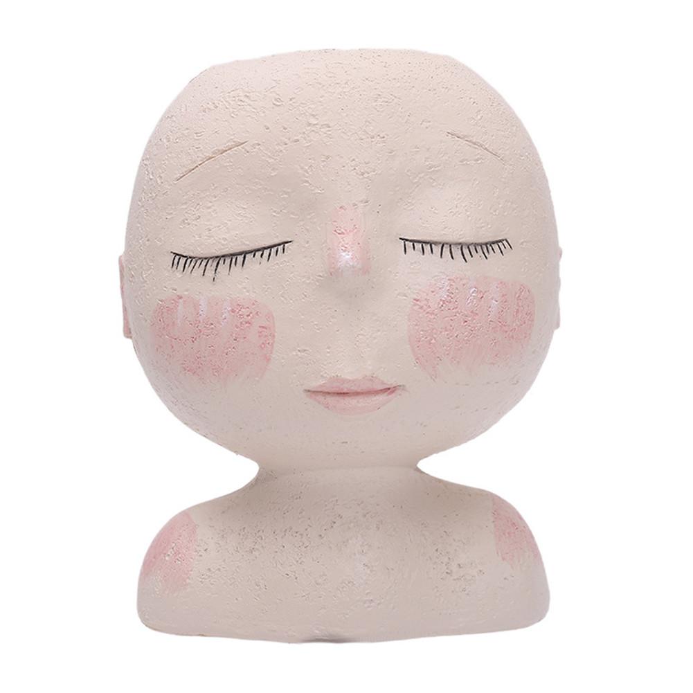 Art Modeling Sculpture Doll Flower  Pot Fleshiness Potted Garden Decoration Desktop Resin Decoration Foam box packaging