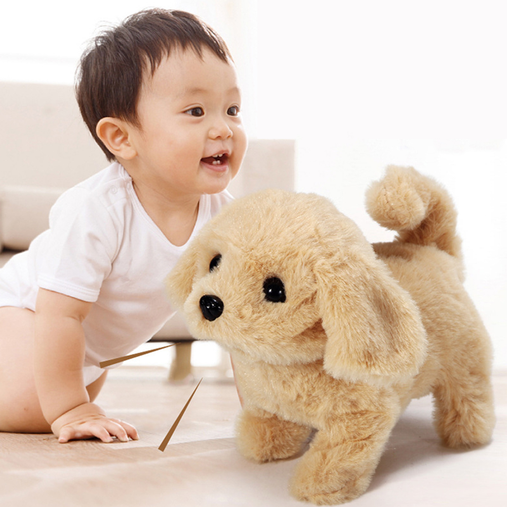 Children Electric Plush Toy Cute Simulation Puppy Plush Toys Electric Golden Retriever