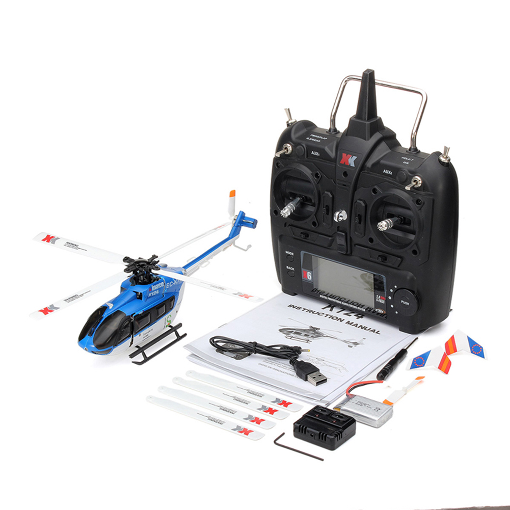 XK K124 RC Drone BNF Without Transmitter 6CH Brushless Motor 3D Helicopter System Compatible with FUTABA S-FHSS RTF