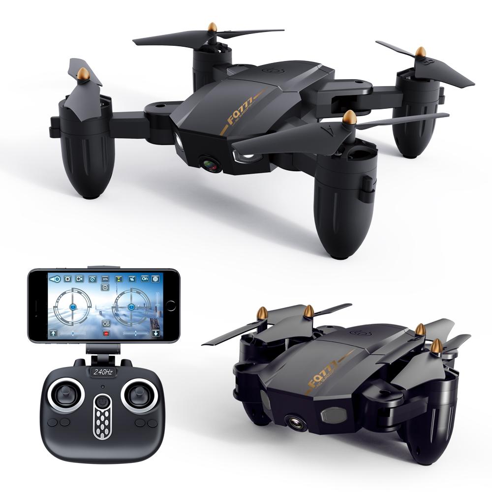FQ777 FQ36 Mini WiFi FPV with 720P HD Camera Altitude Hold Mode Foldable RC Drone Quadcopter RTF 300,000 WIFI