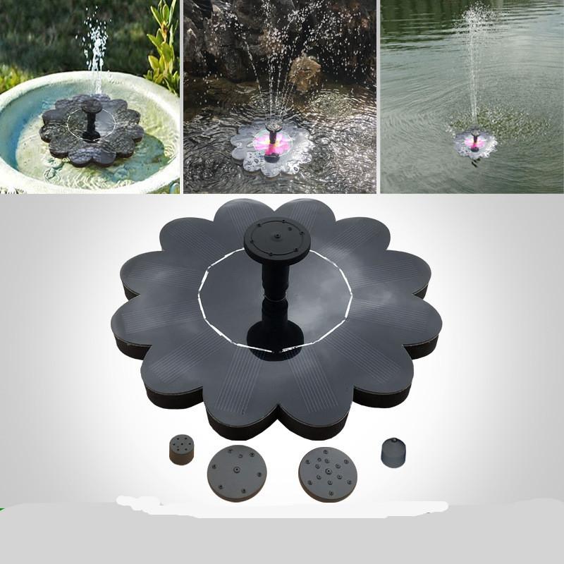 Outdoor Solar Powered Fountain Pool Lake Pond Aquarium Garden Gardening Decoration 16x16cm_Uncharged