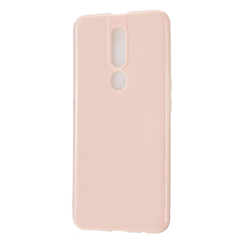 For OPPO F11/F11 Pro Cellphone Cover Glossy TPU Simple Profile Bumper Protective Mobile Phone Case Sakura pink