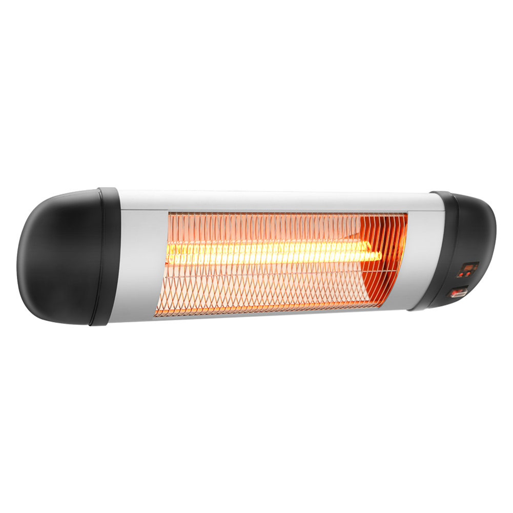 1500w Electric Wall Mount Heater Zokop Phw-1500cr 3 Modes Outdoor Space Heater black