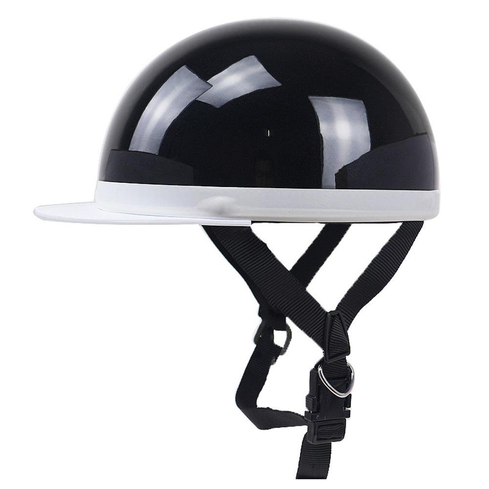 Motorcycle Helmet Electromobile Leisure JIS PSC Certification Riding Helmet Bright black one size