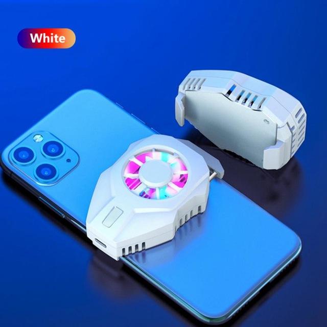 Mobile Phone Cooling Fan Gamepad Holder Bracket Fan Radiator USB Charging For IPhone Huawei Xiaomi Tablet  white