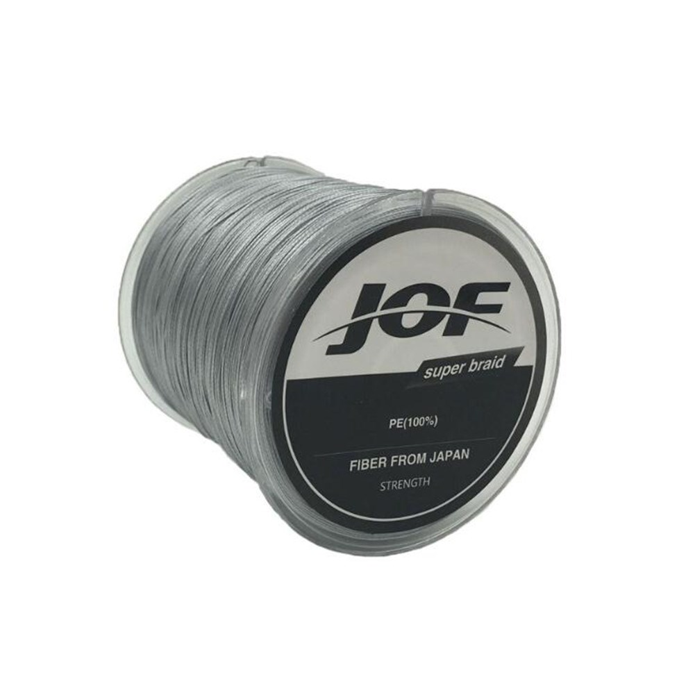 Fishing Line 8 Strands PE Braided 500 Meters Multifilament Fishing Line Rope Wire gray_4.0