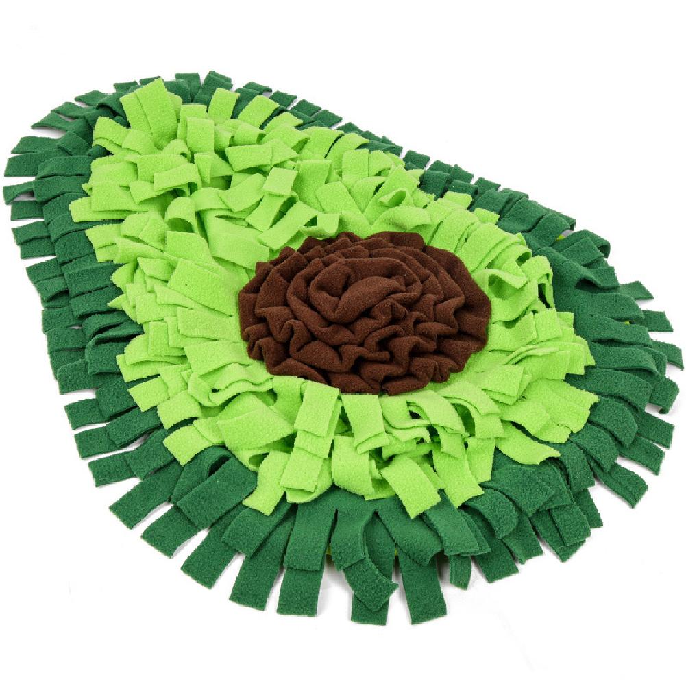 Avocado Pattern Pet Sniffing Mat Feeding Training Pad Toy Dog Release Stress Training Blanket  green_69*53CM