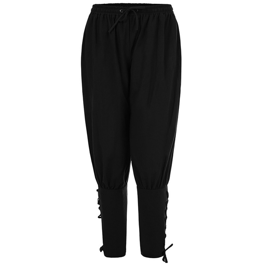 Men Summer Casual Pants Trousers Quick-drying Sports Pants black_L