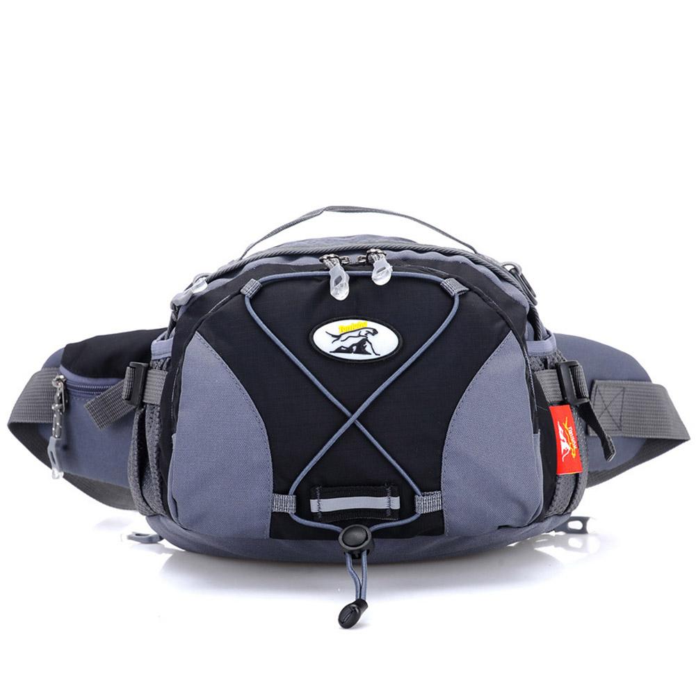 Unisex Outdoor Large Fanny Pack Multifunctional Sports Waterproof Single Shoulder Bag black_One size