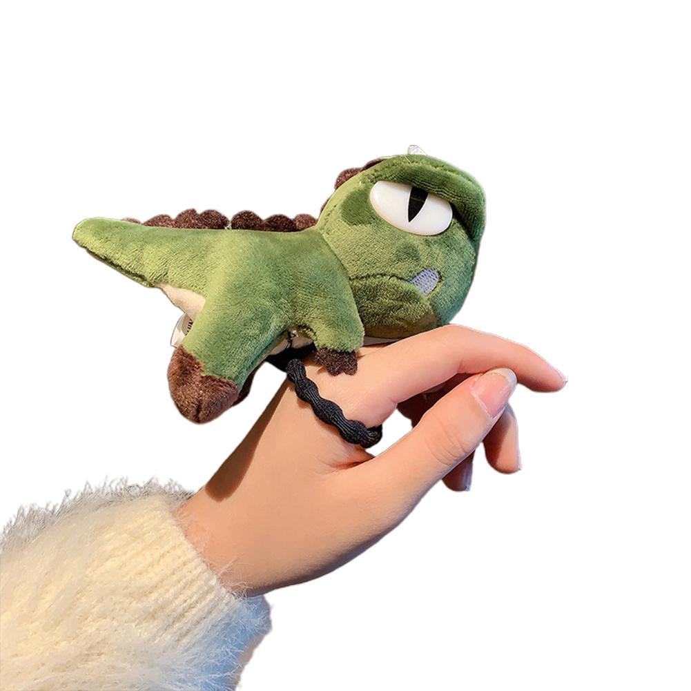 Kid Girl Hair Rope Cute Dinosaur Elastic Rubber Band Ponytail Headwear Headdress 1 # green
