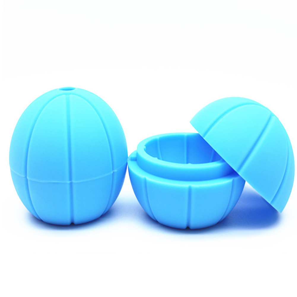 Round Basketball Shape Silicone Mold for Ice Cube Making Tool blue