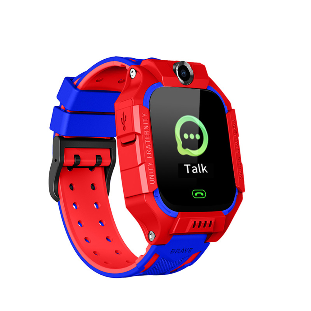 Q19 Smart Watch For Kids Children Smartwatches Positioning Touch Screen Camera English Version Deep Swimming Grade Waterproof red