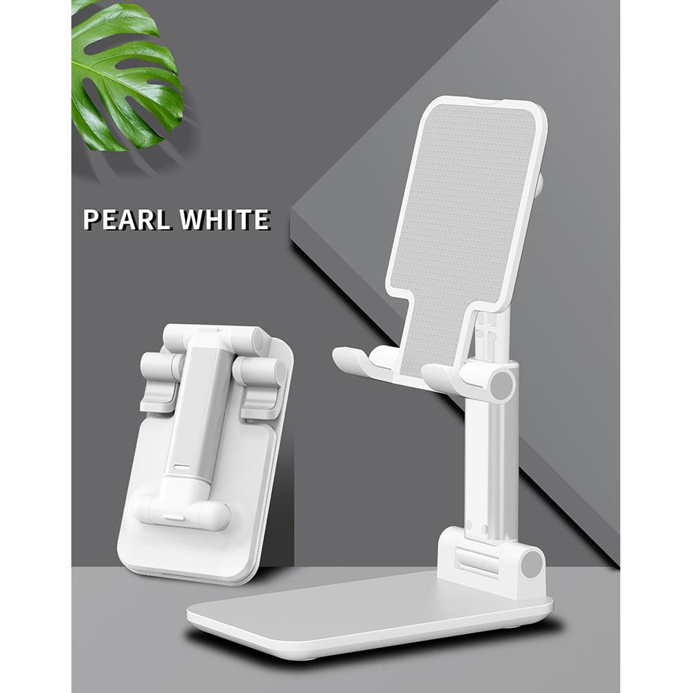 Portable Cell phone Holder Adjustable Angle Lazy Desktop Holder Folding Mobile Phone Bracket white