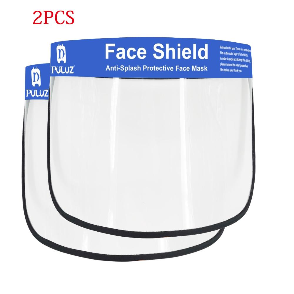 2/5/10PCS Face Shield Transparent Face Guard Spittle Prevention Masks Anti-Splash Protective Mask Cooking Face Covers 2pcs