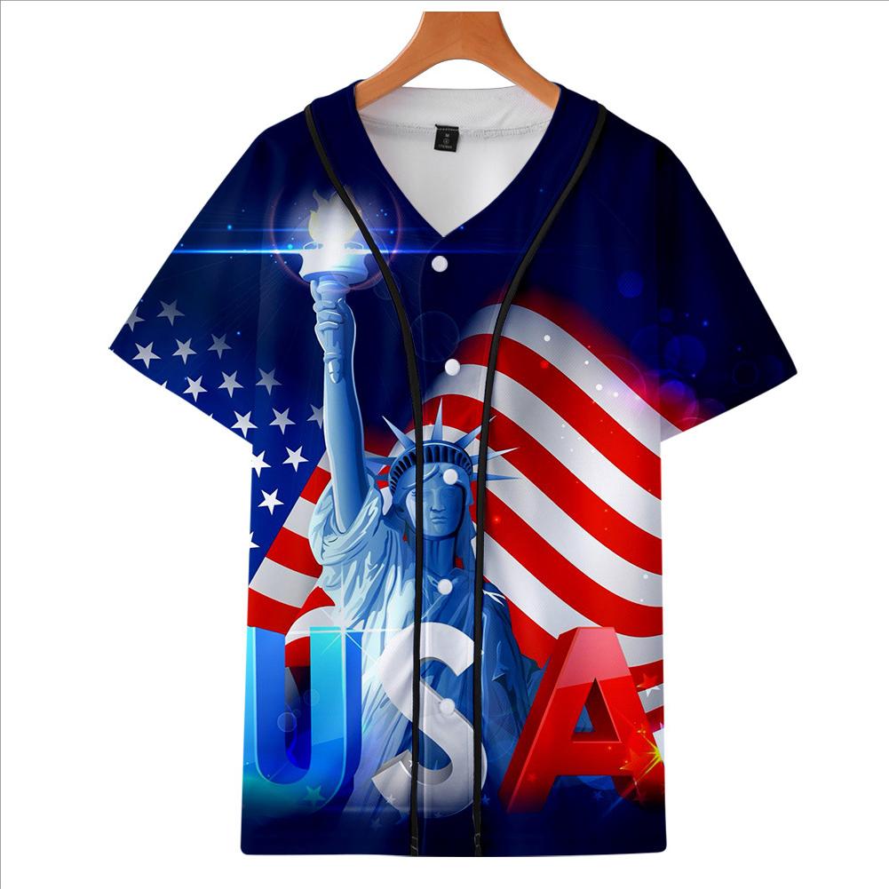 Fashion Round Collar Women Men 3D Print Vivid Color Casual T-Shirt  D_XXL