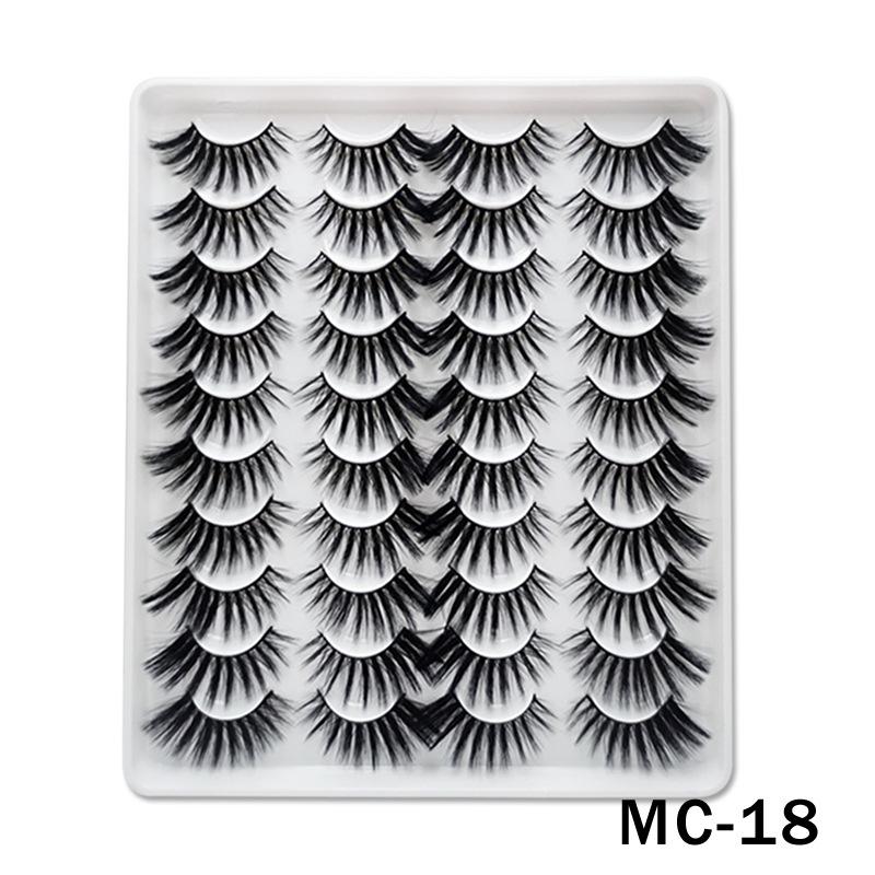 6D Mink False Eyelashes Handmade Extension Beauty Makeup False Eyelashes MC-18