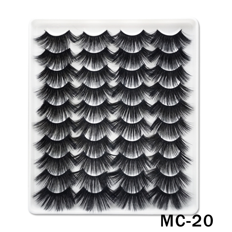 6D Mink False Eyelashes Handmade Extension Beauty Makeup False Eyelashes MC-20