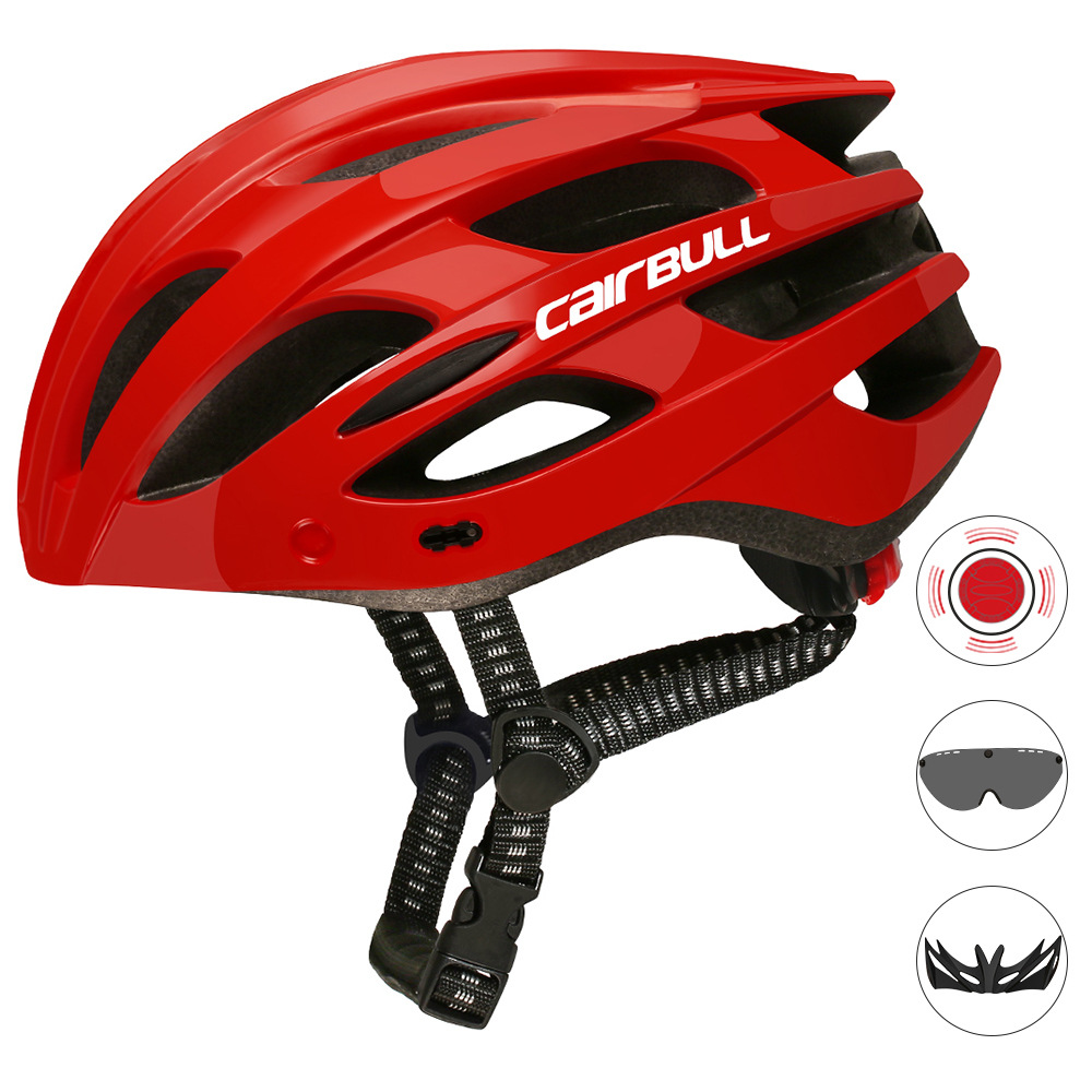 Road Mountain Bike Riding Helmets with Light Men And Women Outdoor Cycling Accessories red_M/L (55-61CM)