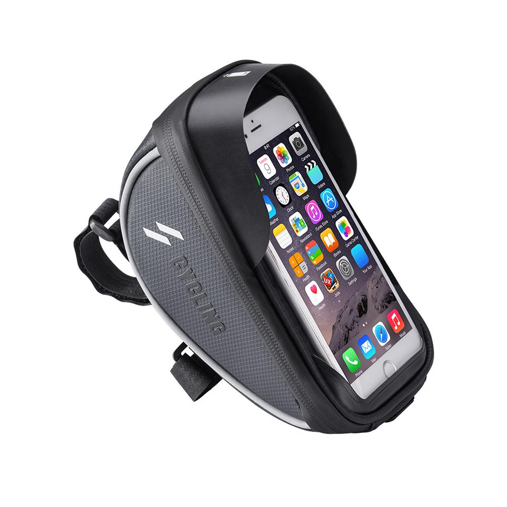 Mountain Bike Mobile Phone Holder Bag Navigation Riding Equipment  black_6.0 inch