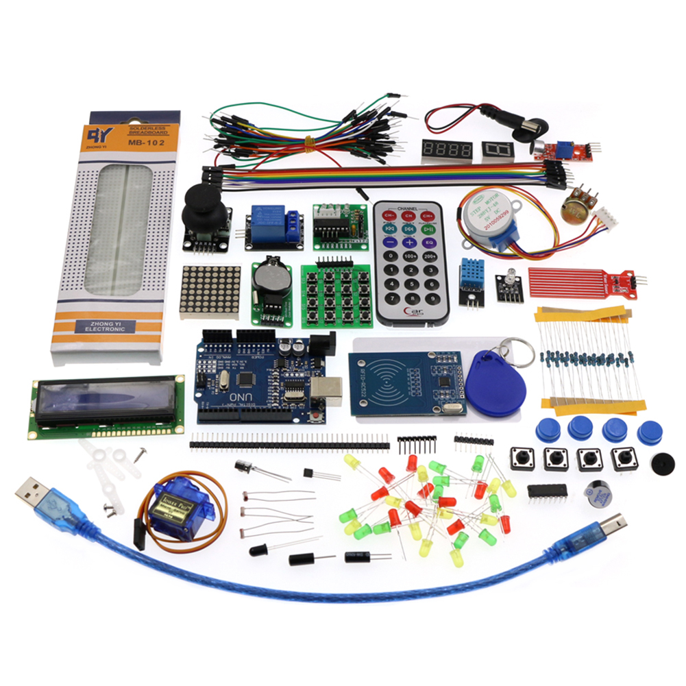 Rfid  Learn  Suite  Kit Starter Kit Lcd 1602 For Arduino Uno R3 Upgraded R3