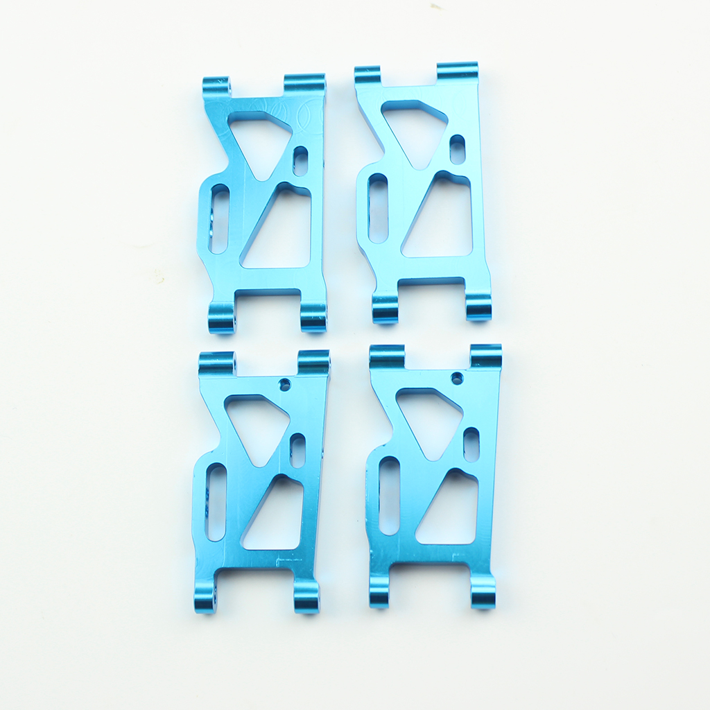 4Pcs/set Metal Front + Rear Swing Arm for WLtoys 144001 1/14 4WD RC Car Upgrade Spare Parts blue