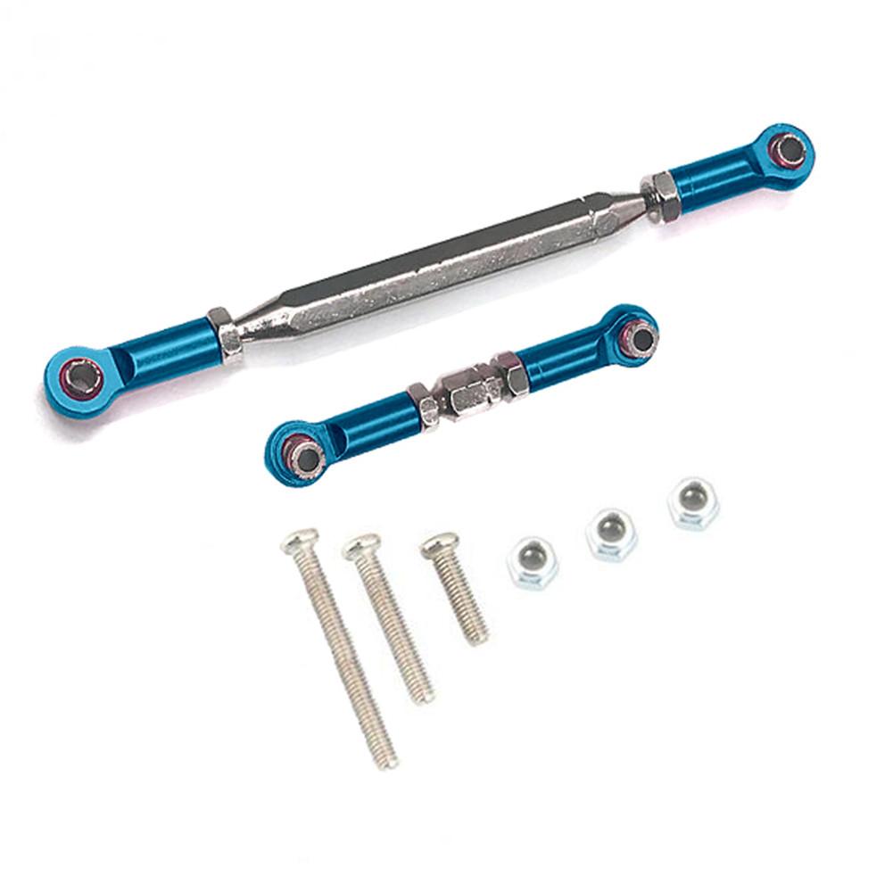 Servo Link Pull Rod Metal Adjustable Steering Linkage Turnbuckle for D90 MN-90 MN-99 MN-91 FJ-45 1/12 RC Car Rock Crawler blue