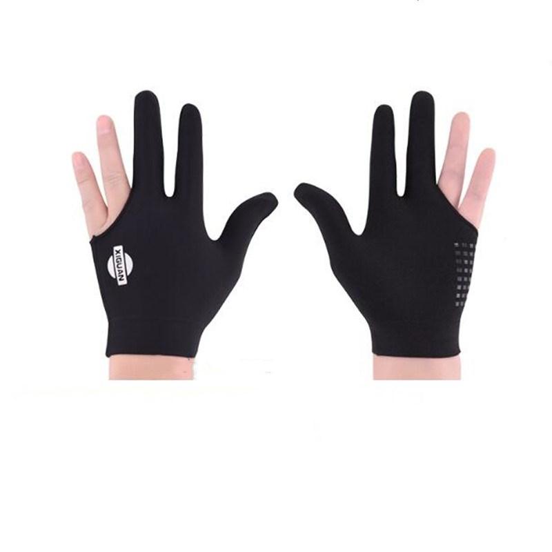 Billiard Glove Three Fingers Left Hand Breathable Glove Billiard Accessories black