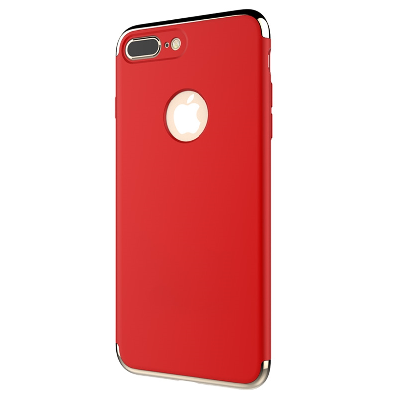 Red iPhone 7 Thin Slim 3 in 1 Protection Case