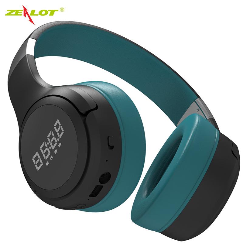B28 Wireless Bluetooth Headphones Foldable Wireless Headset with Microphone blue