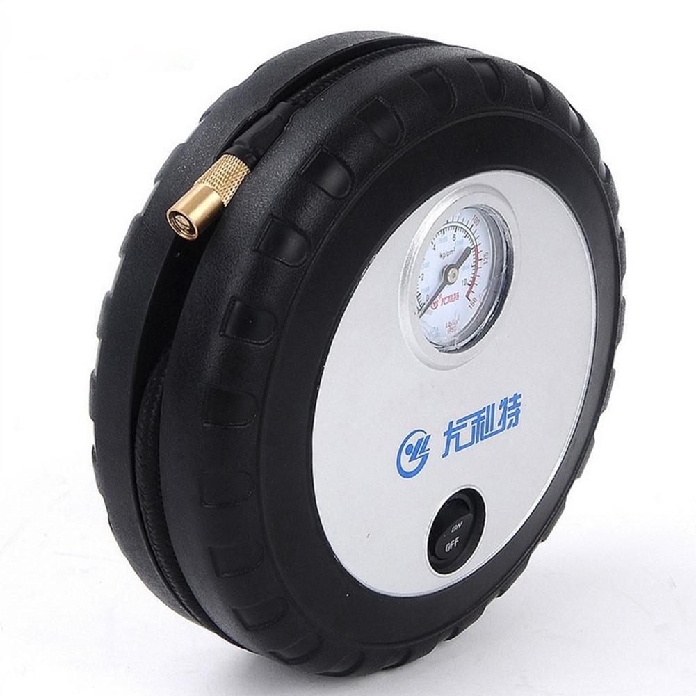 Car Air Pump Mini Tire Air Pump Portable Car Air Pump black