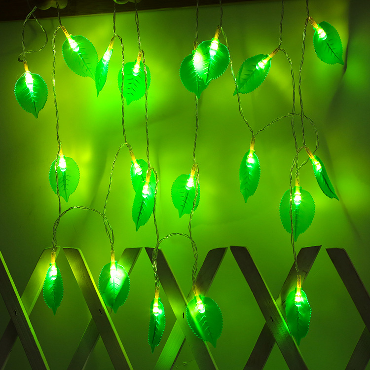 LED Leaves Shape String Light for Indoor Battery Box Powered Decoration Warm White