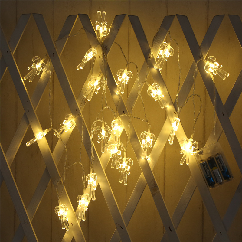 LED Cane Crutch String Light for Home Garden Lamp Yard Path Lamp Decoration Warm White