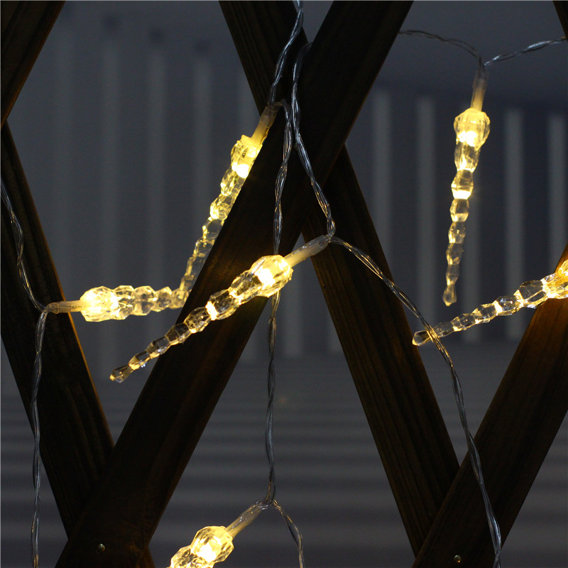 LED Icicle String Light for Home Room Christmas Party Decoration Warm White