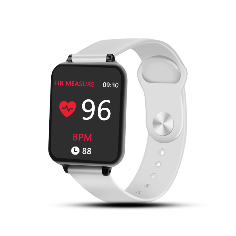 B57 Smart Watches Waterproof Sports for iPhone Android Phone Smartwatch Heart Rate Monitor Blood Pressure Fitness Bracelet White