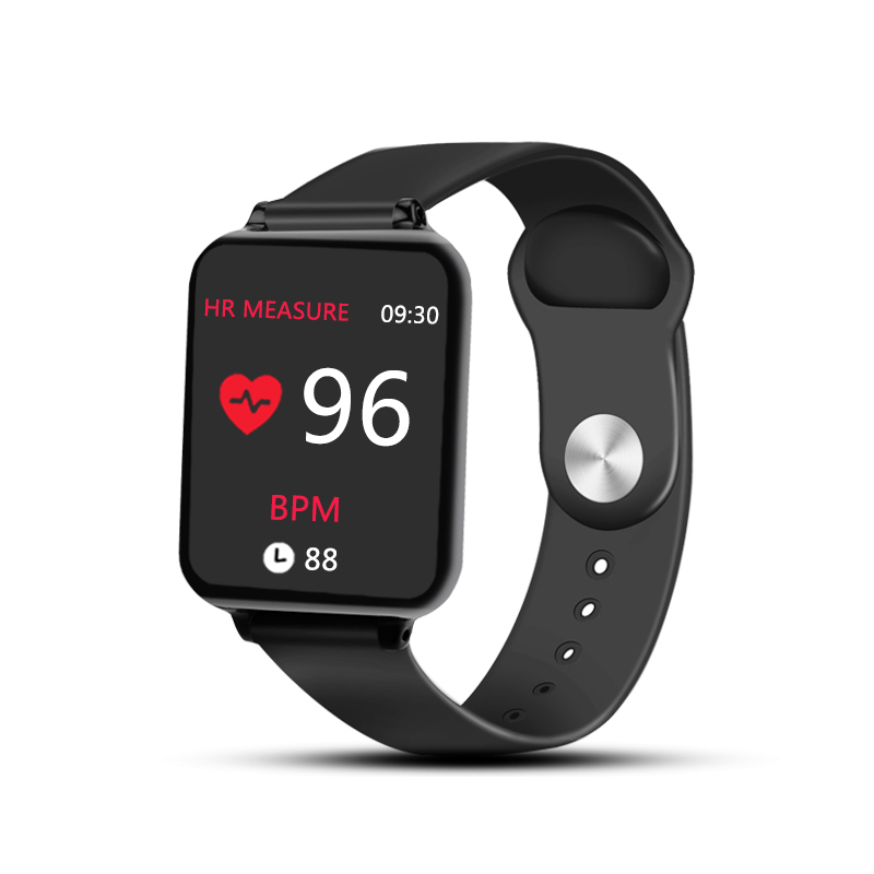 B57 Smart Watches Waterproof Sports for iPhone Android Phone Smartwatch Heart Rate Monitor Blood Pressure Fitness Bracelet Black