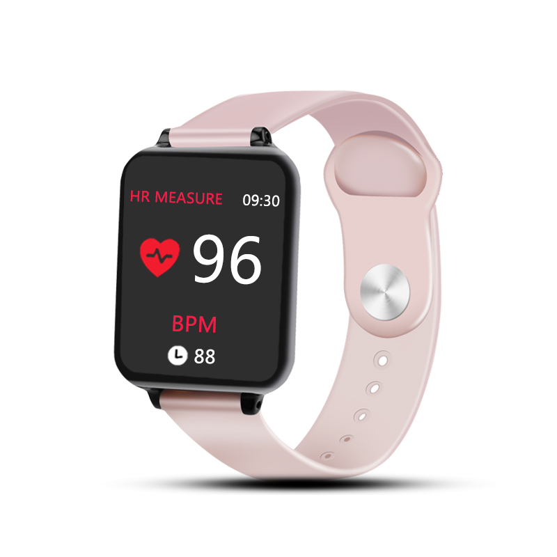 B57 Smart Watches Waterproof Sports for iPhone Android Phone Smartwatch Heart Rate Monitor Blood Pressure Fitness Bracelet Pink