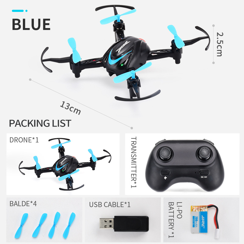 Jjrc H48 Infrared  Remote  Control  Quad  Copter H48 One Key Return Home Mini Drone Training Airplane Blue