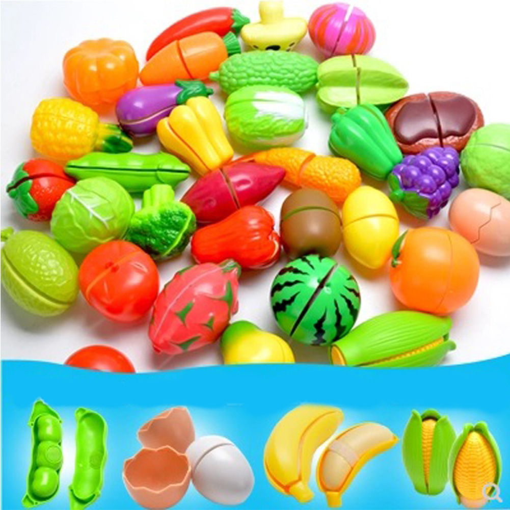 Children Cute Pretend Play Simulation Fruit Vegetable Set for Kids   Corn (peelable)