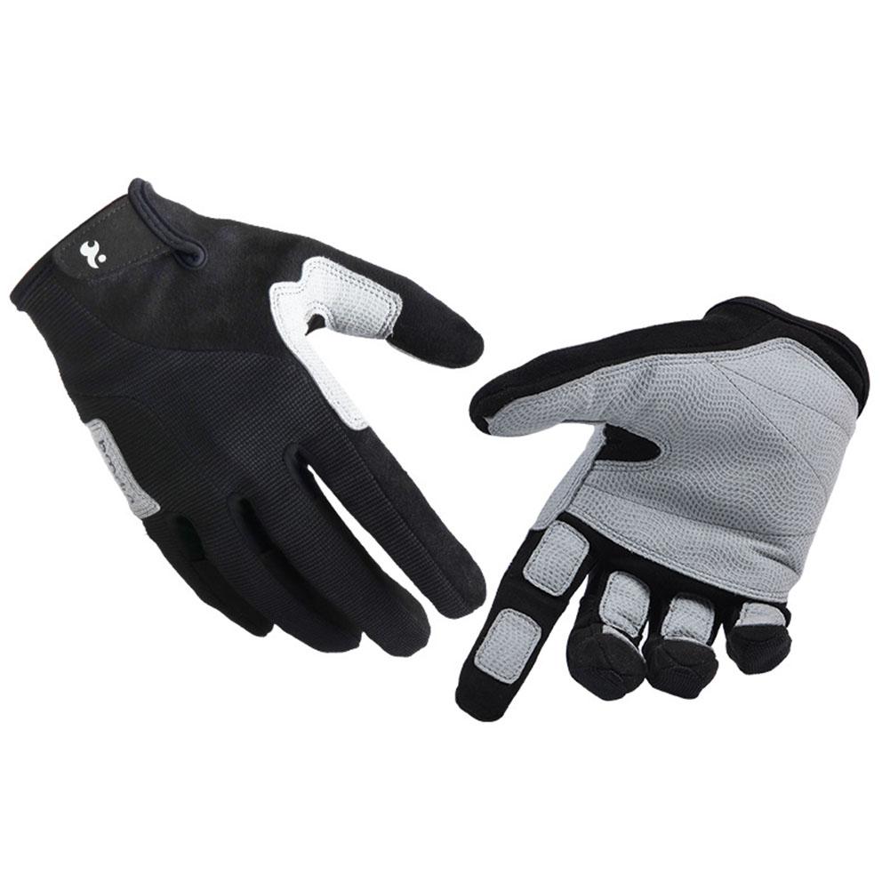 Unisex Climbing Gloves Outdoor Mittens Athletic High Elastic Non-skid Gloves   Black M