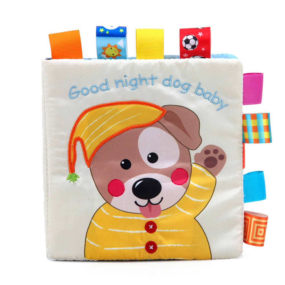 Animal Style Newborn Baby Toys Learning Educational Kids Cloth Books Cute Infant Baby Fabric Book  cloth book
